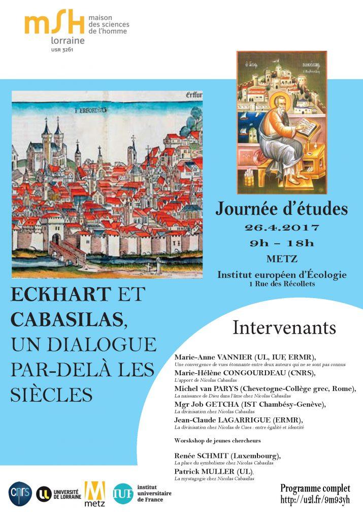 Eckhart et Cabasilas, un dialogue par-delà les siècles