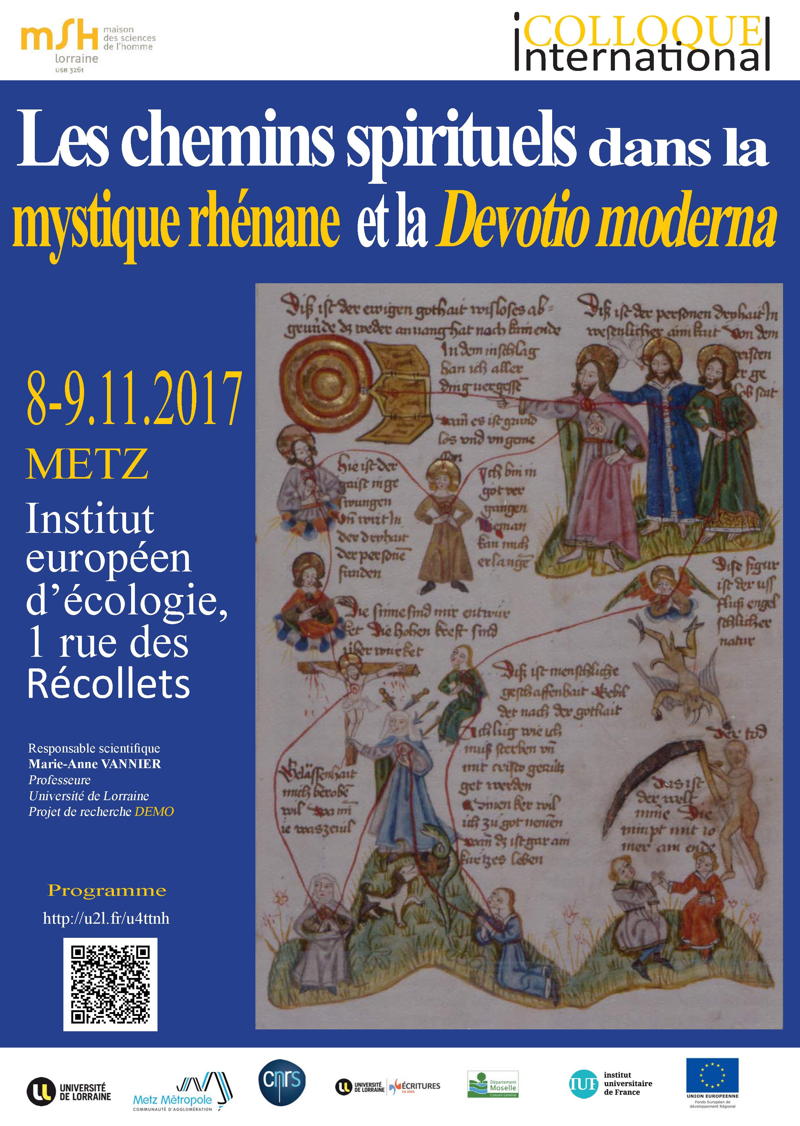 Affiche chemins spirituels dans la mystique rhénane et la Devotio moderna